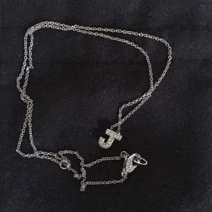 """Jewelry - Sterling Silver Initial necklace """"J"""""""